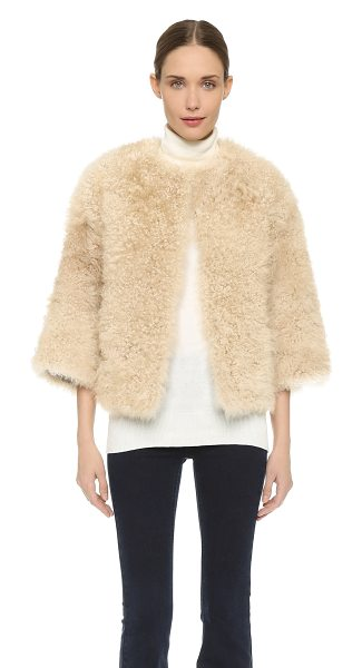 M.PATMOS Reversible cashmere fur silk jacket - Luxe, curled fur lends a cozy element to this striking...