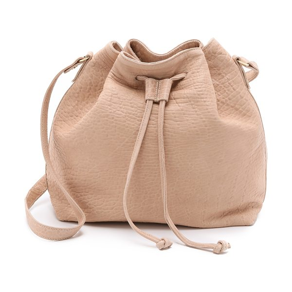 MR. Baker bucket bag in rose - Bubble leather adds luxe texture to this slouchy MR....