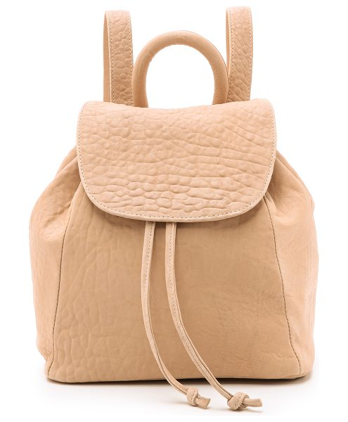 MR. Parker backpack in rose - A slouchy MR. backpack rendered in bubble leather. The...