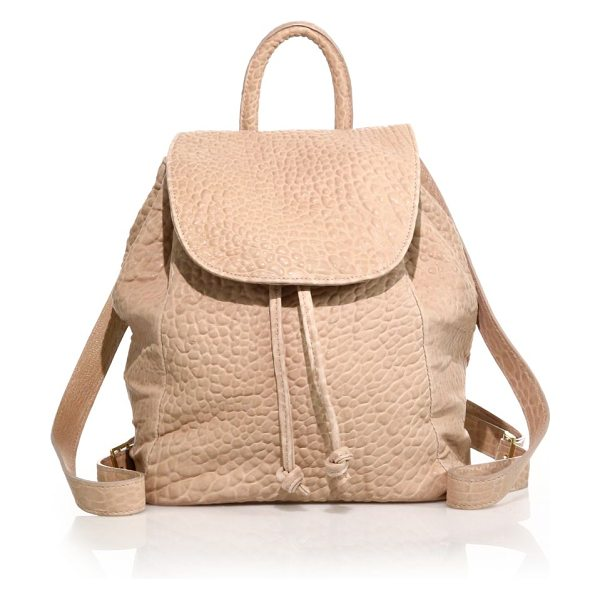MR. Parker bubble leather backpack in rose - A classic hands-free staple rendered in soft bubble...