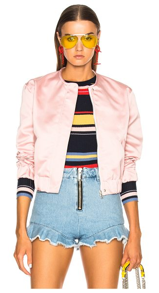 MSGM Bomber Jacket in pink - Self & Lining: 100% poly.  Made in Italy.  Dry clean...