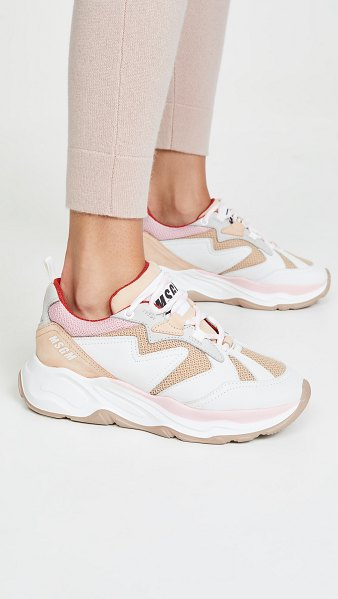 MSGM chunky sneakers in nude