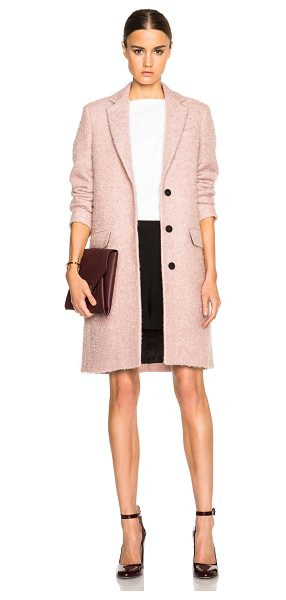 MSGM Coat in pink - Self: 52% fleece wool 26% mohair 22% polyamide - Lining:...