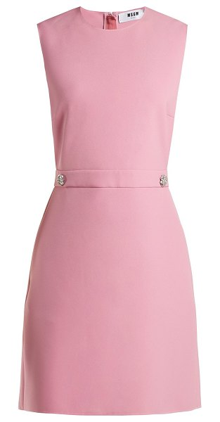 MSGM Msgm - Crystal Buttoned Crepe Dress in pink - MSGM - MSGM's bold approach to colour is perfectly...