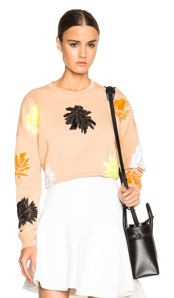 MSGM Fleece sweatshirt with explosion patches in neutrals