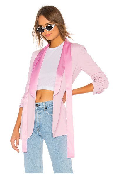 MSGM Jersey Blazer in pink - Self: 100% viscoseLining: 100% poly. Dry clean only....