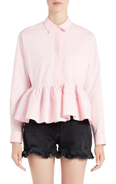 MSGM peplum top in pink