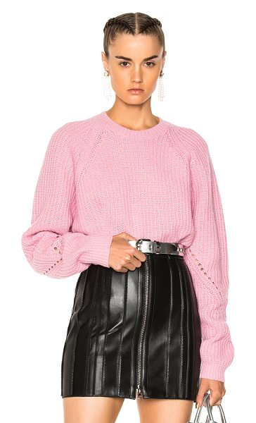 MSGM Ribbed Knit Sweater in pink - 80% wool 20% polyamide.  Made in Italy.  Hand wash. ...
