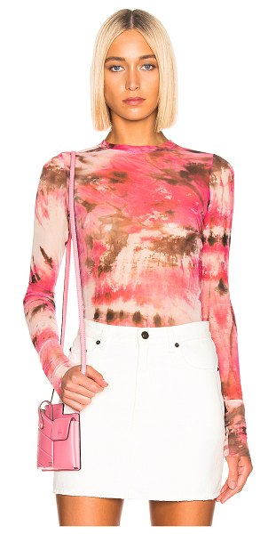 MSGM sheer blouse in pink - MSGM Sheer Blouse in Pink. - size 42 (also in ) 94%...