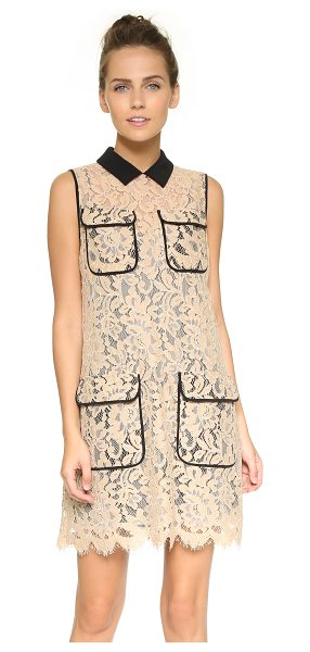 MSGM Sleeveless lace shirtdress in blush - This lace MSGM shirtdress pairs feminine style and...
