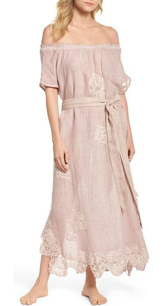 Muche et Muchette daisy linen cover-up dress in dusty pink - Stroll along the beach or boardwalk in this long,...