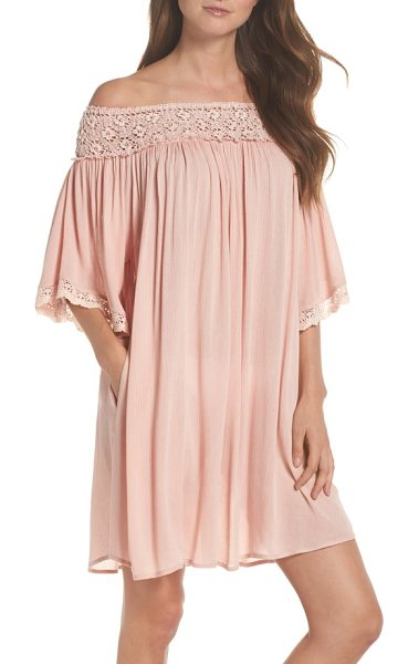 Muche et Muchette rimini crochet cover-up dress in pink - After a long day in the sun you want something that...