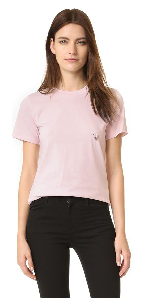 Mugler Mugler T-Shirt With Hardware in rose - A metal ring adds a touch of edge to this Mugler tee....