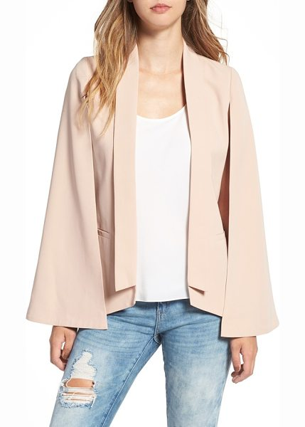 Mural cape blazer in nude - A fluttery, feminine take on the staple blazer is...
