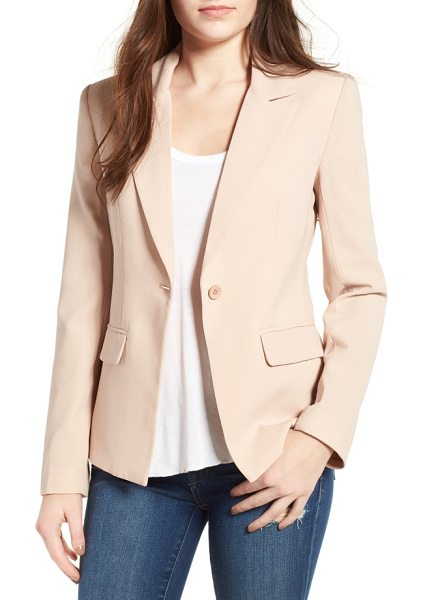 Mural structured blazer in nude - A wardrobe-essential blazer is sleek and versatile with...