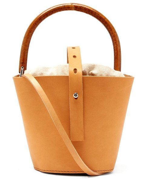 MUUÑ louise bucket bag in cream multi