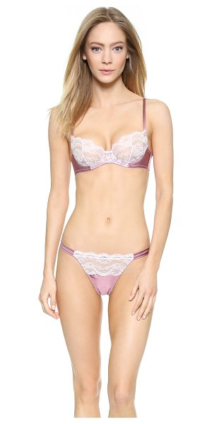 Myla London Isabella balcony bra in wistful mauve/primrose pink - Sheer lace composes the cups of this underwire Myla...