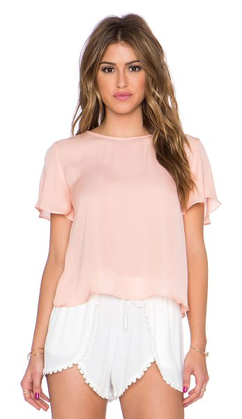 Myne Sand crop top in peach - 100% silk. Dry clean only. MYNE-WS118. SAND. With its...