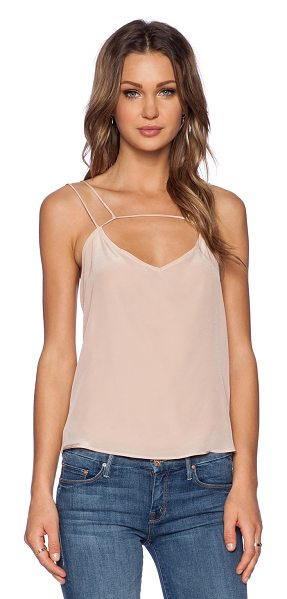 Myne Scarlett tank in blush - Silk blend. Dry clean only. MYNE-WS113. SCARLETT. With...