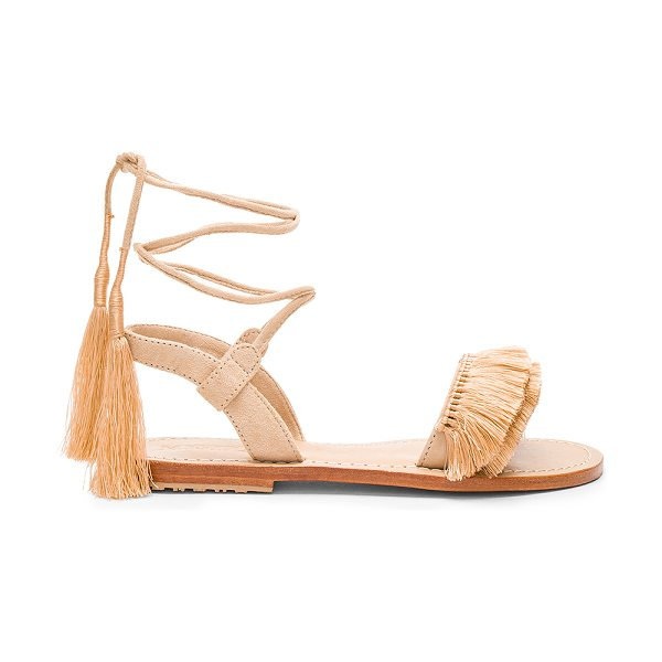 MYSTIQUE Sandal in nude - Suede upper with leather sole. Wrap ankle with tie...