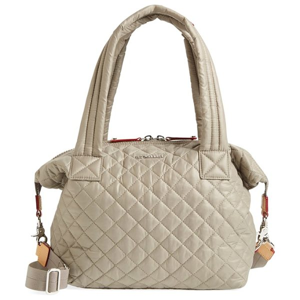 MZ WALLACE Medium sutton quilted oxford nylon shoulder tote - Lightweight quilted nylon comprises a slouchy shoulder...