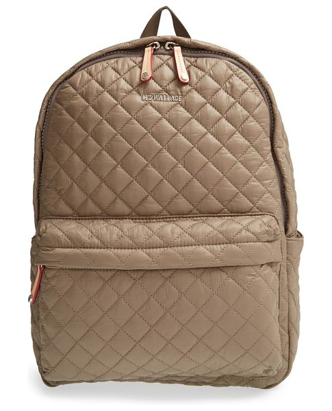 MZ Wallace Metro quilted oxford nylon backpack in clay - Diamond-quilted nylon comprises a super-lightweight...