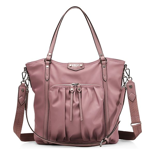 MZ Wallace Nikki Tote in dusty rose bedford/silver - Mz Wallace Nikki Tote-Handbags