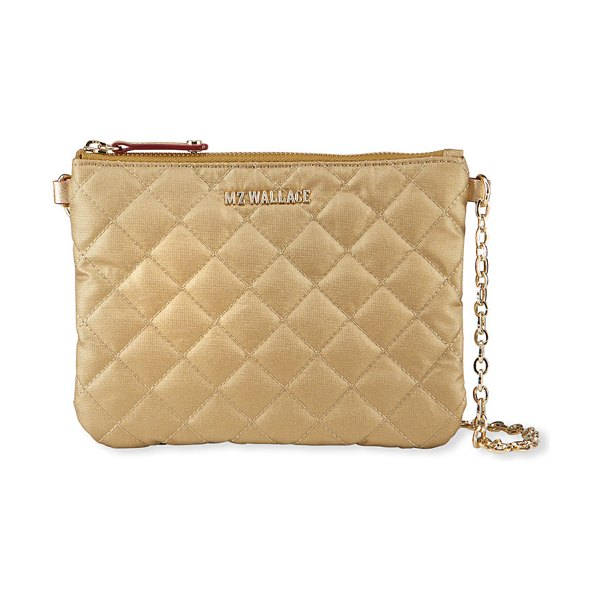 MZ Wallace Ruby Was Pippi Quilted Crossbody Bag in gold metallic