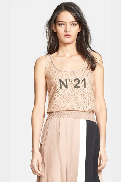 N21 mixed media tank - A mashup of trend-right and timeless style, this...