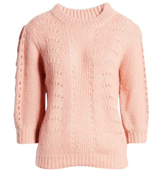 NA-KD balloon sleeve sweater in pink