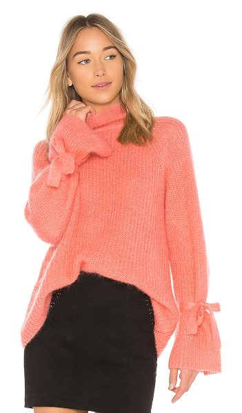 NAADAM Turtleneck Oversized Sweater in pink - 66% mohair 30% polyamide 4% wool. Hand wash cold. Fuzzy...