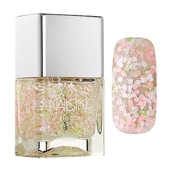 NAILS INC. blossom effect nail polish covent garden mews 0.47 oz/ 14 ml - A nail polish infused with fine white particles and...