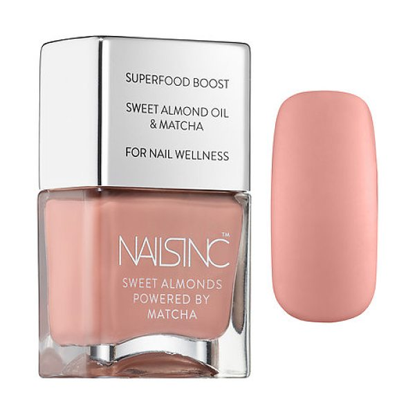 NAILS INC. sweet almond nail polish powered by matcha king william walk - A nail polish powered by superfood matcha and infused...