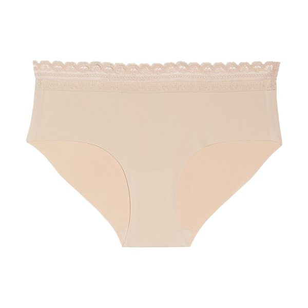 Naked almost  lace trim hipster briefs in rose dust