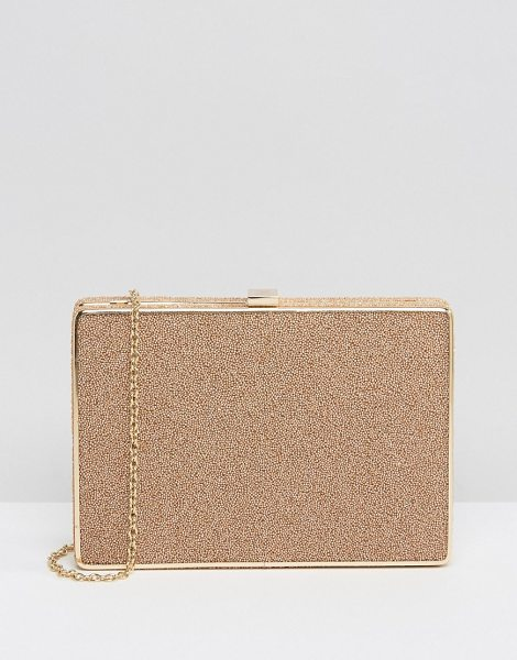 Nali Stone Detail Clutch Bag in beige - Cart by Nali, Textured outer, Structured design, Gold...