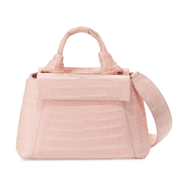 Nancy Gonzalez Crocodile knot-handle mini tote bag in baby pink - Nancy Gonzalez tote bag in signature Caiman crocodile....