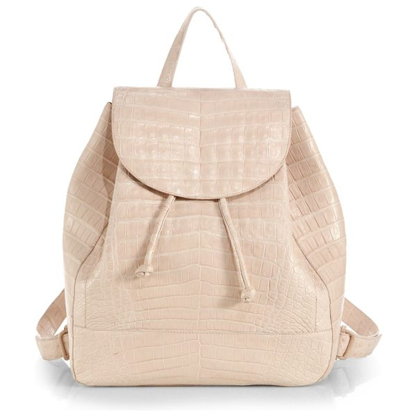 Nancy Gonzalez Crocodile large backpack in blush - The classic functionality of this everyday staple is...