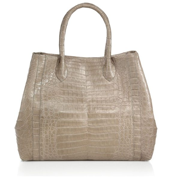 NANCY GONZALEZ Large convertible crocodile tote - Flexible sides allow for easy expansion of this richly...