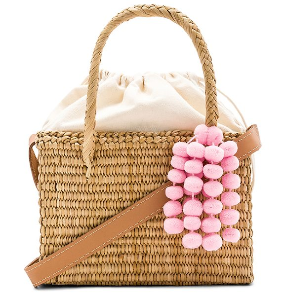 Nannacay Baby Maldives Mini Bag In Beige Woven Straw Exterior And Lining Canvas