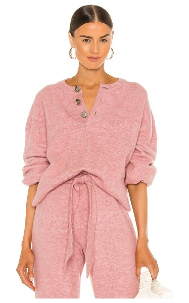 NANUSHKA lamee sweater in washed pink