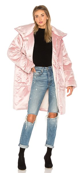 NANUSHKA Mask Coat in pink - Self: 50% cotton 40% viscose 2% elastaneLining &...