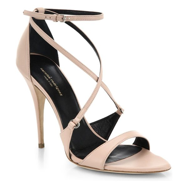 Narciso Rodriguez Ava italian leather sandals in nude - Strappy heels in luxe leather offer a sophisticated...