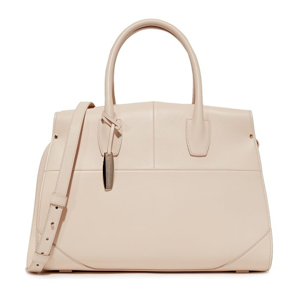NARCISO RODRIGUEZ Aya top handle bag in nude - A soft, structured Narciso Rodriguez bag crafted in...