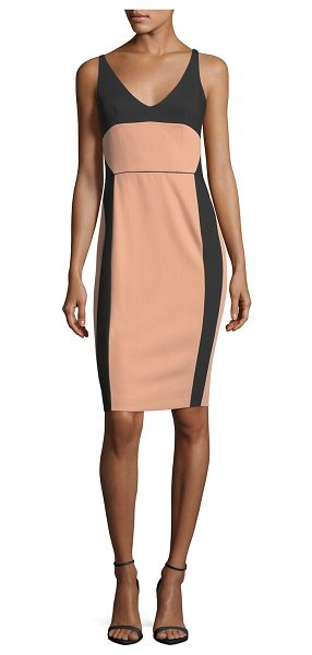 Narciso Rodriguez Bicolor Scoop-Neck Sleeveless Dress in black/pink - Narciso Rodriguez bicolor dress with ballet-inspired...