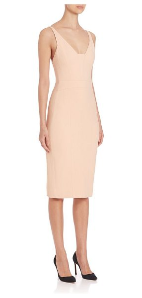 Narciso Rodriguez fitted nude dress in pale pink - Super chic fitted dress, with an exposed back...