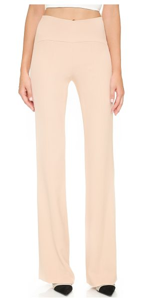Narciso Rodriguez High rise pants in blush - A high rise complements the timeless, straight leg...