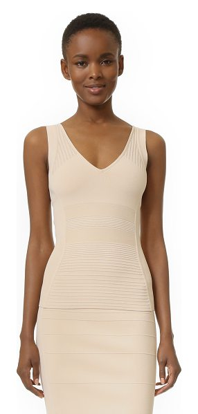 NARCISO RODRIGUEZ knit tank - Raised stitches form tonal patterns on this figure...