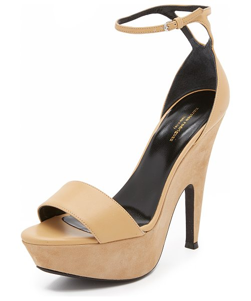 NARCISO RODRIGUEZ mia sandals - A sculpted, suede covered platform gives a dramatic lift...