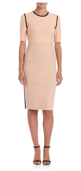 Narciso Rodriguez Reversible double-knit dress in pink-black - Double-knit dress reverses to expose alternate...