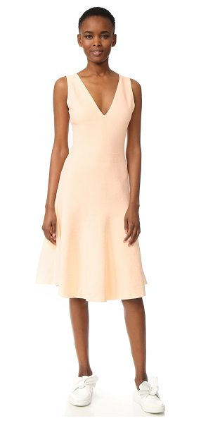 Narciso Rodriguez sleeveless dress in soft blush - A swingy skirt gives this Narciso Rodriguez dress an...